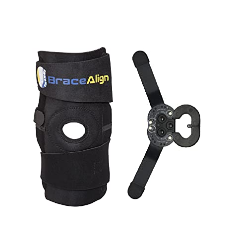 Stabilizing ROM Hinged Knee Brace - Immobilizing Support for ACL/PCL Injuries, Osteoarthritis, Post op Care, Patella Support, Sprains, Hypertension PDAC Approved L1833 L1832 by Brace Align