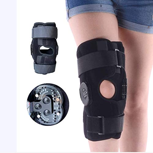 Comfyorthopedic Hinged knee brace with Side Stabilizers Adjustable Leg Brace Locking ROM Knee immobilizer for Arthritis Pain, Torn Meniscus, ACL Tear, MCL Patella Knee Brace Stabilizer for Men & Women
