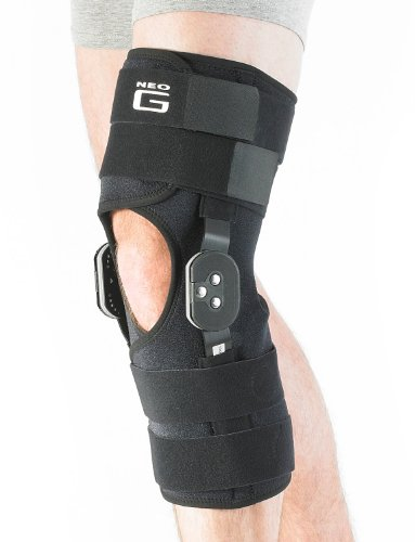 Neo G Hinged Knee Brace, Firm Support - Adjustable Dials for Tendon Strains, Ligament Strains, ACL, Arthritis, Joint Pain, Injury Recovery - Open Patella - Class 1 Medical Device - 1 Size – Black