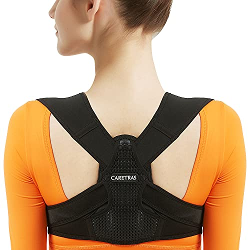 Posture Corrector for Women and Men, Adjustable Upper Back Brace, Breathable Back Support straightener, Providing Pain Relief from Lumbar, Neck, Shoulder, and Clavicle, Back. (S/M(29'-38'))