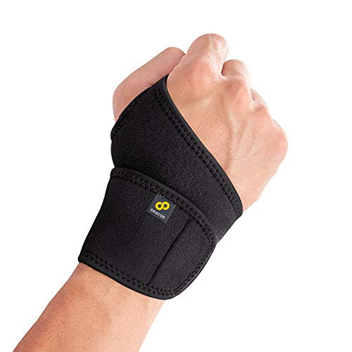 Bracoo WS10 Wrist Support Brace, Hand Support, Adjustable Wrist Wrap Strap for Fitness, Weightlifting, Tendonitis, Carpal Tunnel Arthritis, Joint Pain Relief, Wrist Tendonitis – Fits Right and Left Hand (Black)