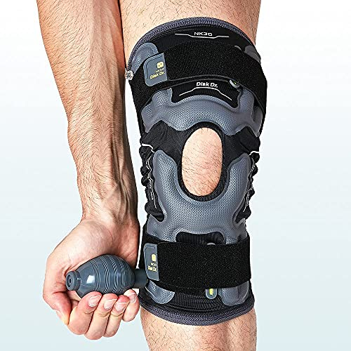 Disk Dr AIR Knee Brace Support & Compression for Patella, ACL/PCL Protection, Knee Support for Sports (Daily Life Type, Medium)